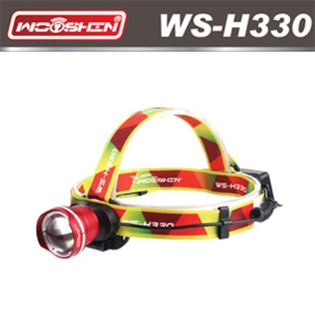 우신 LED충전식줌헤드랜턴 WS-H330 레드 [제작 대량 도매 로고 인쇄 레이저 마킹 각인 나염 실크 uv 포장 공장 문의는 네이뽕]