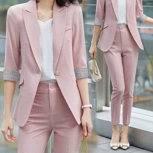 [해외] 여성 패션 재킷 자켓 정장세트션 전문 작은 정장