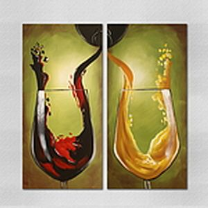 와인 잔 그림 유화 페인팅 고급 벽화 장식 실내 액자