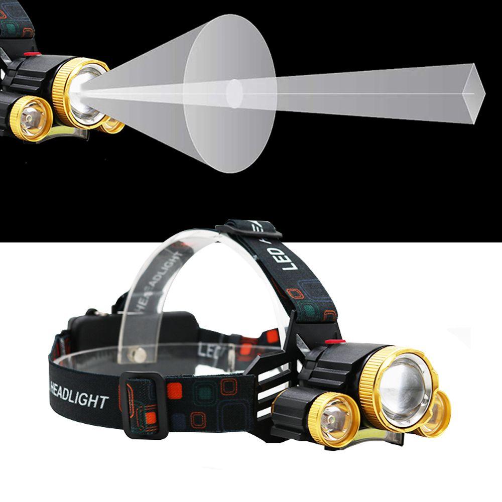 기능추가 성능UP 3구 충전식 헤드랜턴 낚시 COB 10W 낚시랜턴 LED헤드랜턴 LED랜턴 줌헤드랜턴