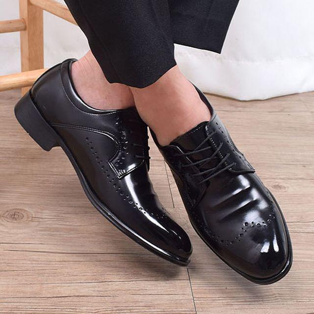 W 신상 남성 윙팁 뾰족 구두 편한 슈즈 정장 면접 신발