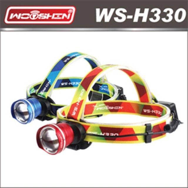 우신 LED충전식줌헤드랜턴 WS-H330 [제작 대량 도매 로고 인쇄 레이저 마킹 각인 나염 실크 uv 포장 공장 문의는 네이뽕]