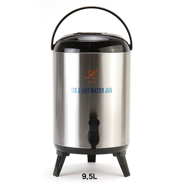 스테인리스 보온보냉 워터저그 보온물병-9.5L [제작 대량 도매 로고 인쇄 레이저 마킹 각인 나염 실크 uv 포장 공장 문의는 네이뽕]
