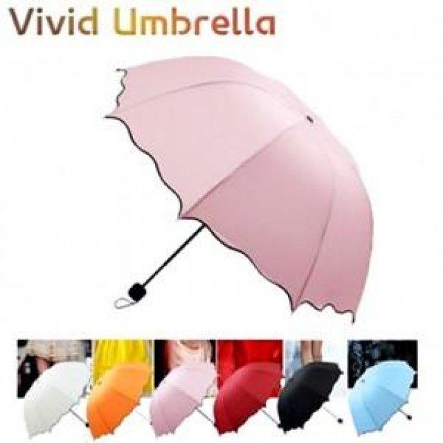 W 비비드 4단우산 햇빛가리개 양산 여성 접이식 3단우산
