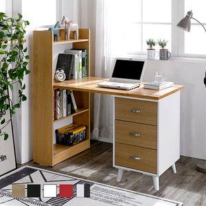 GD1001-08 서랍형 책상세트 1200 4단책장 학생 컴퓨터