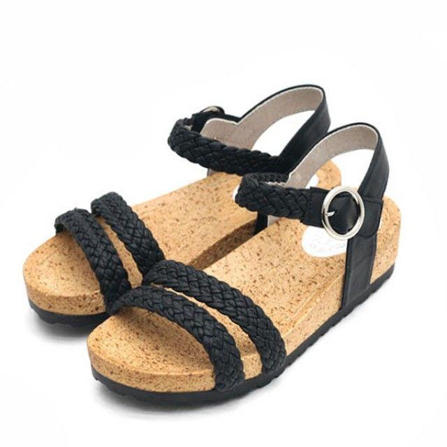 【韩国直邮】玛莉·珍两点线条女士凉鞋