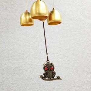 수호부엉이G 블루 행운의상징 생활용품 문종 도어벨