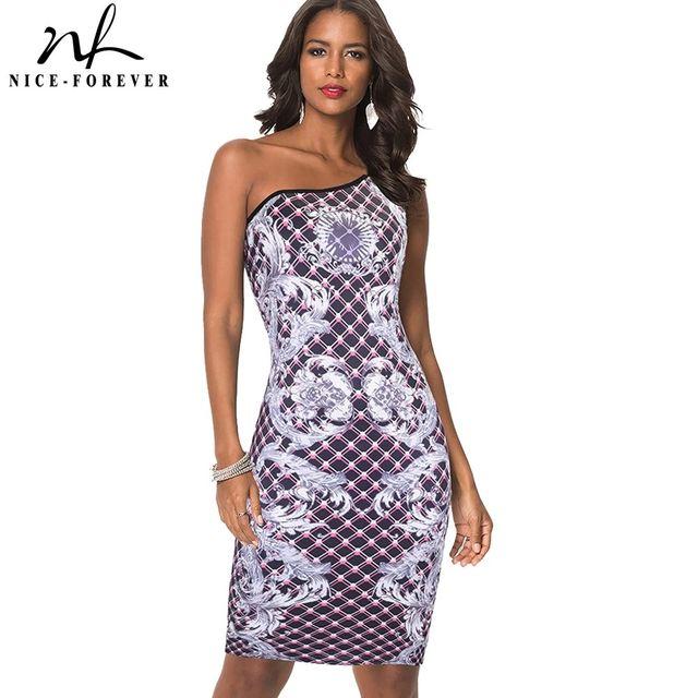 [해외] 니스-영원히 여름 여성 패션 한 어깨 빈티지 드레스