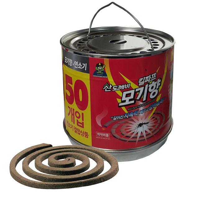 W 킬파프 연소기통포함 황색모기향 50매