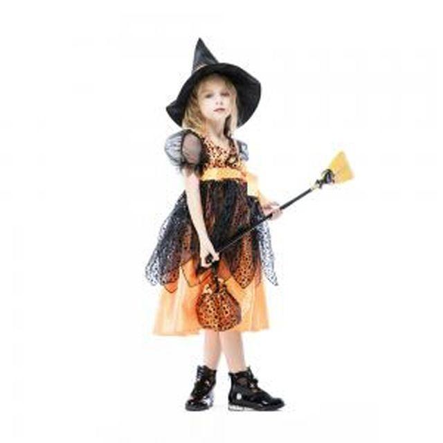 할로윈 의상 아동 여아 귀염둥이 마녀 오렌지 드레스