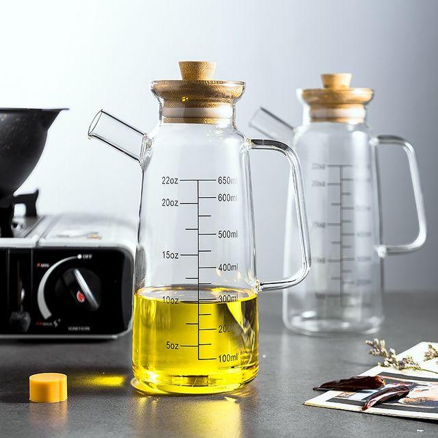 [해외] 주방 유리 기름 누수 방지 냄비 가정용 기름