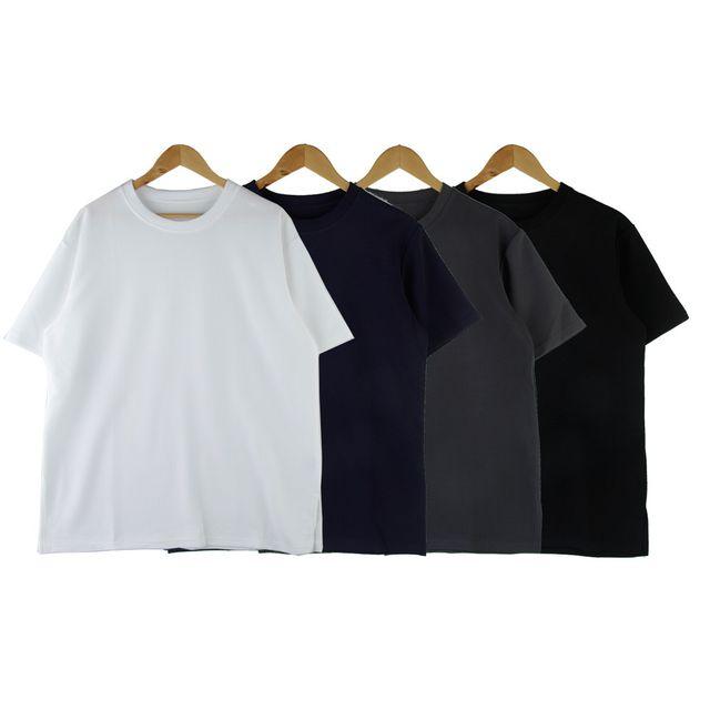 W 페타냐 남녀공용 엠보 반팔 티셔츠 200514