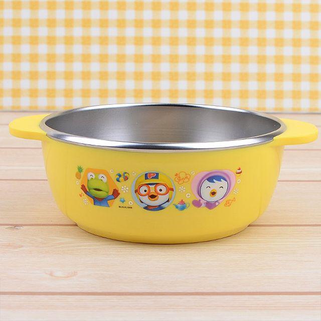 뽀로로 스텐 양수 대접 아동식기 유아식기 아동식판