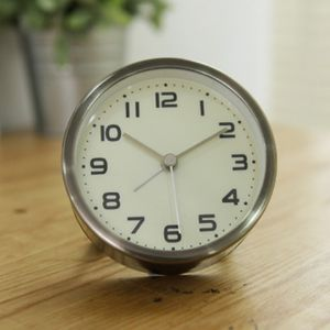 클래식 원형 알람 탁상시계(블랙골드)