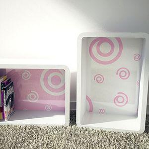 핑크소용돌이 B3047 뒷판 공간박스 선반 DIY 인테리