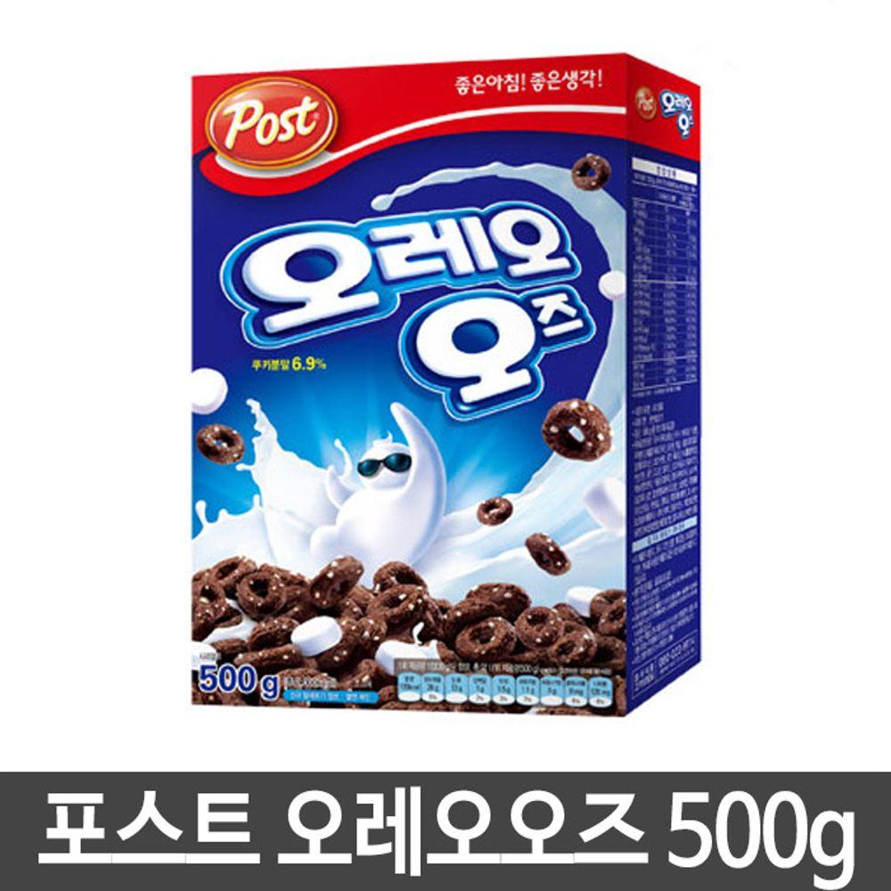 포스트 오레오즈 시리얼 씨리얼 초콜렛 아침대용 500g,포스트,오레오즈,시리얼,씨리얼,초콜렛,아침식사대용,켈로그