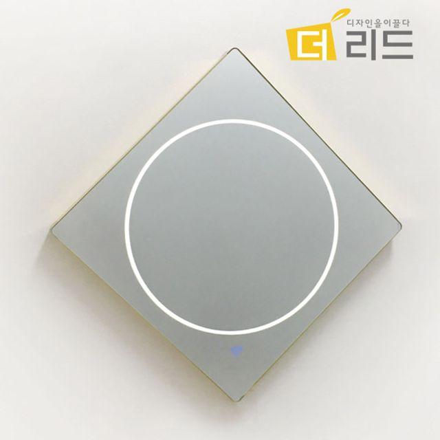 LED조명 마름모원 벽걸이거울 450x450