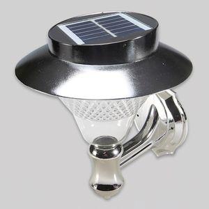 태양광 LED 정원등 24 LED(실버)(벽부겸용)