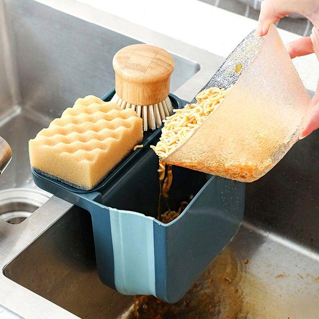 W 씽크대 위생 관리 수세미 음식물 쓰레기 관리 보관