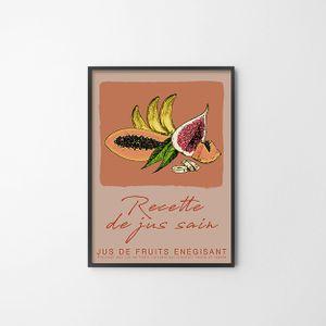 아트 포스터(FRUITS) 일러스트 과일사진 홈데코 소품