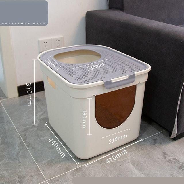 [해외] 고양이 화장실 8kg 이하 배변용 캣토일렛