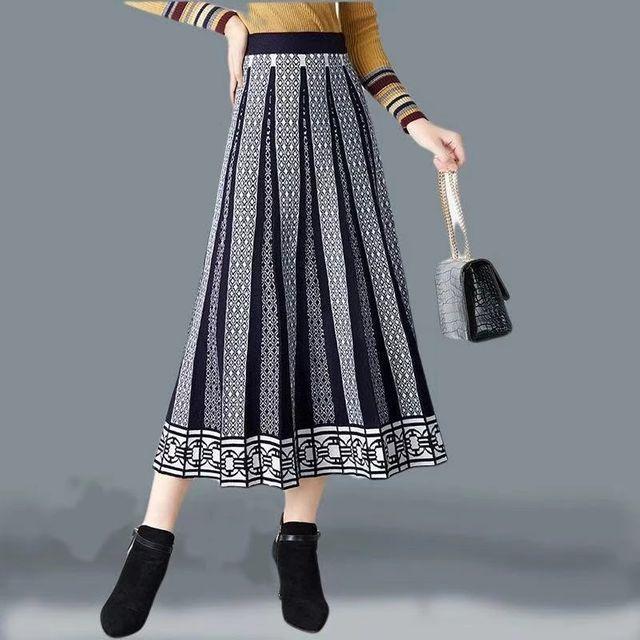 [해외] Banulin 두꺼운 따뜻한 여성 Pleated 스커트 가을 겨