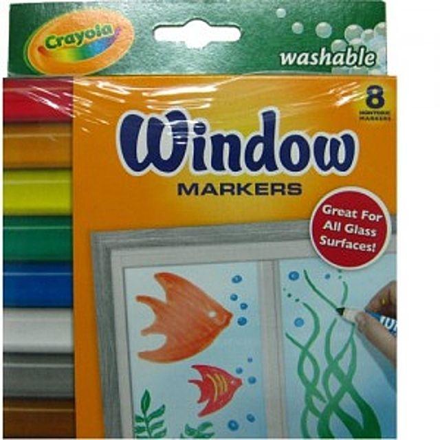 [더산쇼핑]크레욜라 윈도우용 수성마카8색 수성마카 색연필