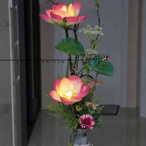 꽃빛아트 LED플라워 그레이 나무 화기