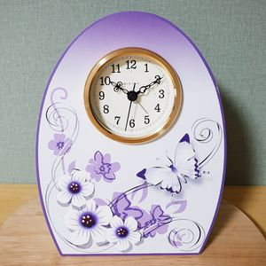 꽃나비 탁상시계