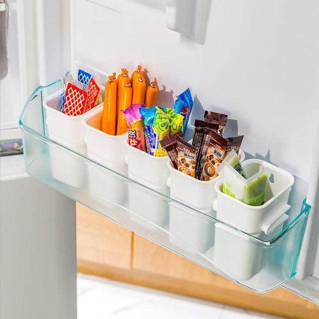 W 키밍 냉장고 정리용기 칸막이 소품수납케이스 꽂이