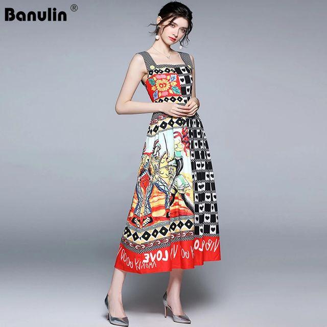 [해외] Banulin 2021 디자이너 런웨이 비치 Boho 플라워 프린