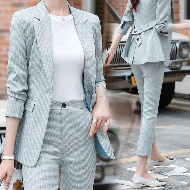 [해외] 여성 패션 재킷 자켓 정장세트스 작은 정장 여성