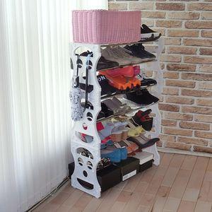 스마일오픈7단(28족)/신발장 현관 오픈 신발 수납장
