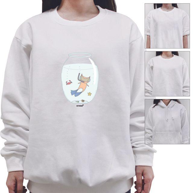 W 키밍 fish tank 여성 남성 티셔츠 후드 맨투맨 반팔티
