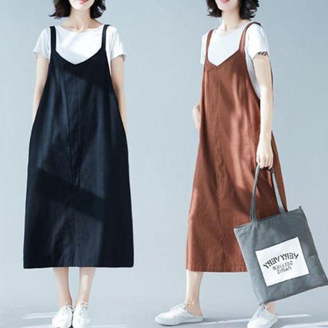 W 여자 캐주얼 패션 자연스러운 핏 외출 점프수트