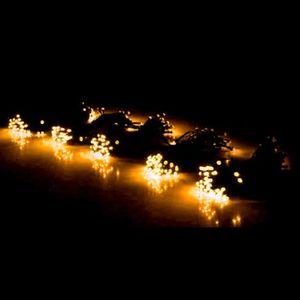 황색 380무뚜기 검정선 크리스마스조명 LED 트리전구