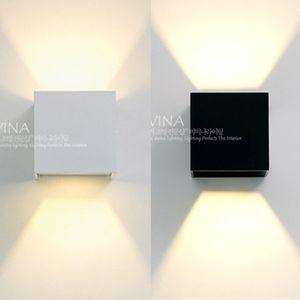 GALH LED 방수사각 벽등(6W/2color) 인테리어 조명