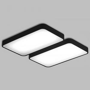 한승 LED 무타공 시스템 거실등 100W 블랙 조명