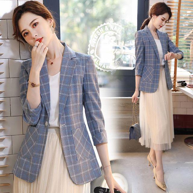 [해외] 여성 패션 재킷 자켓 정장세트모 재킷 작은 정장
