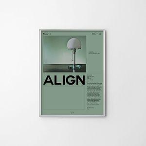 종이포스터(ALIGN) 벽장식 일러스트 사진 그림 전시품