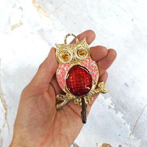 수호부엉이G 핑크 생활용품 도어종 행운의상징 종