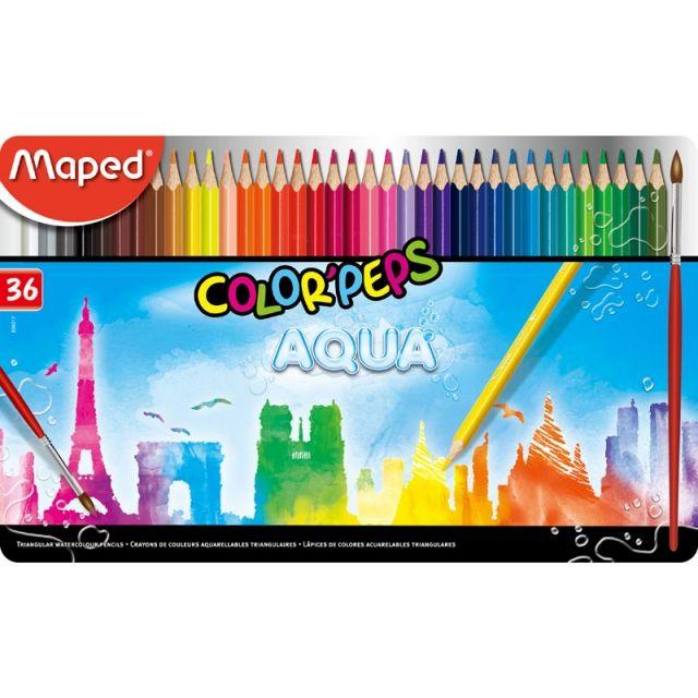 컬러펩스 수채색연필 틴 36색 미술학용품