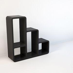 계단형 3단 수납 셀프 인테리어 손쉬운 조립 원룸 DIY