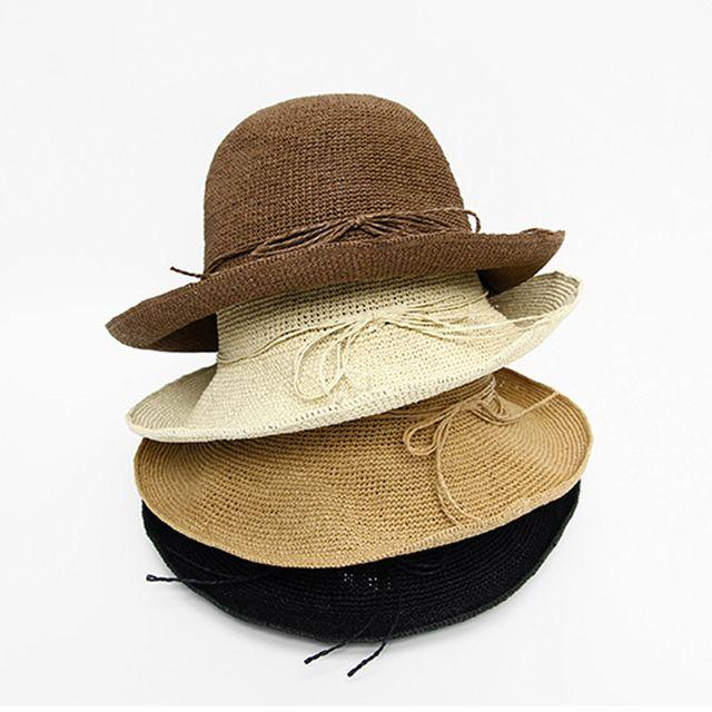 여름 바캉스룩 밀짚 모자 휴양지 여자 버킷햇 벙거지