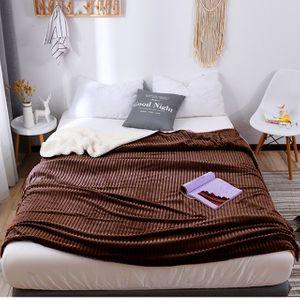어린이집 거실 침실 럭스 양면 담요 이불 다크브라운