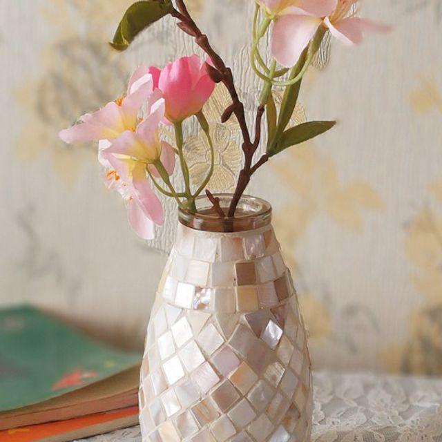 [해외] 모자이크 유리 꽃병 화병