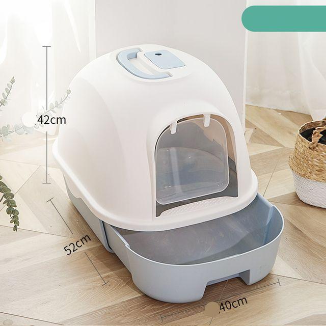 [해외] 고양이 화장실 서랍식 배변 캣토일렛 모래박스