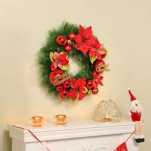 50cm 스파클링 원형 리스 크리스마스 벽장식 트리