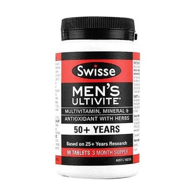 [해외] Swisse Men Multivitamin 남성 멀티 비타민 50세+90정