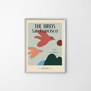 포토그래피(THE BIRDS) 아트 포스터 종이사진 전시품